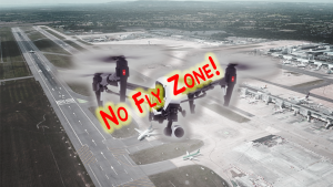 Drone over airport